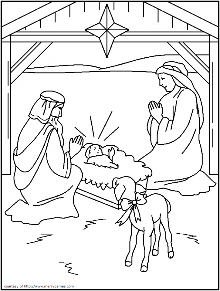 FREE Printable Christmas Coloring Pages - Religious | for the kids ...