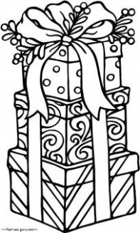 Free Printable christmas gifts coloring pages for kids.Free online ..