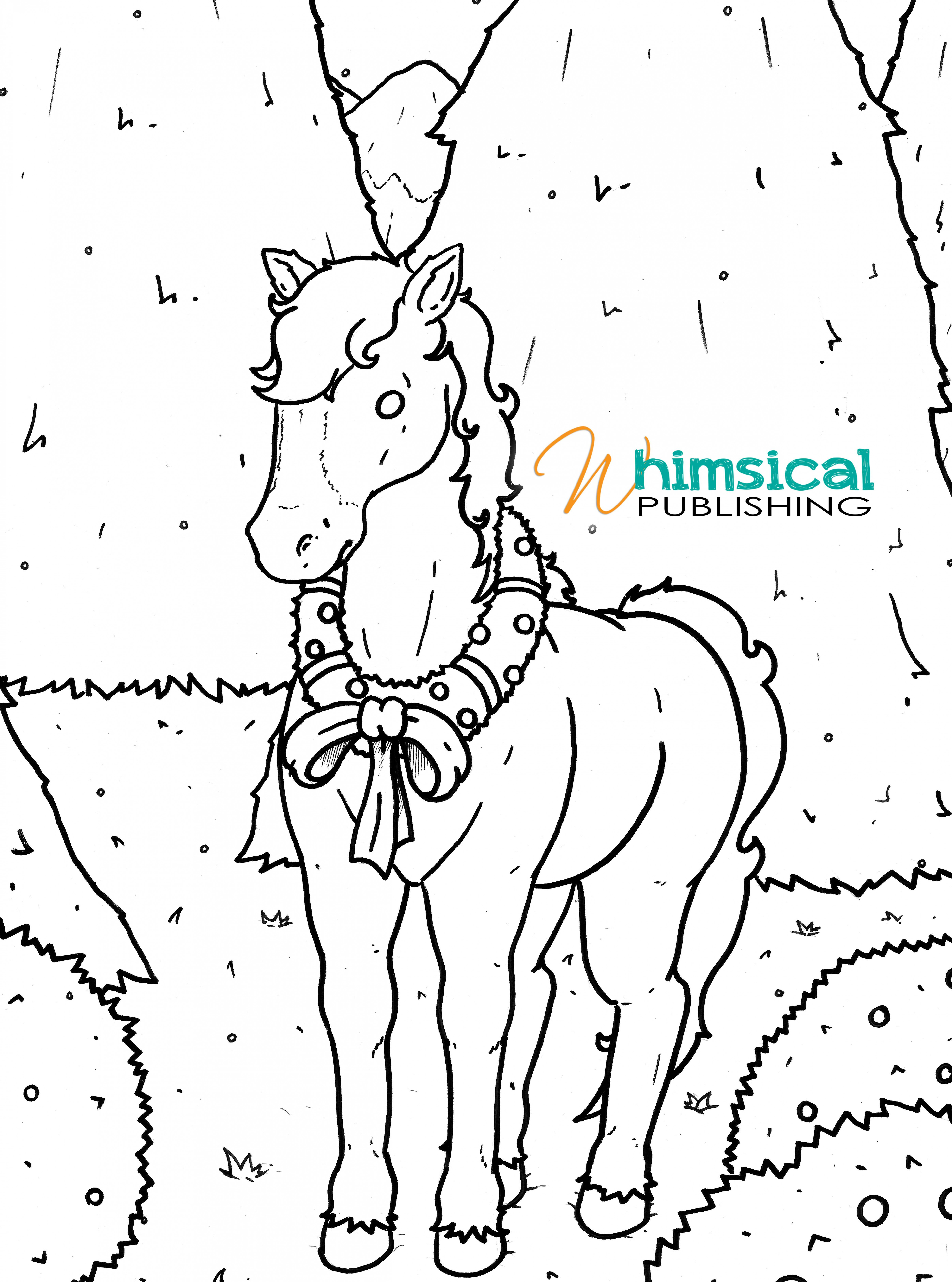 FREE Printable Christmas Horse Colouring Page | Horsey Christmas ..