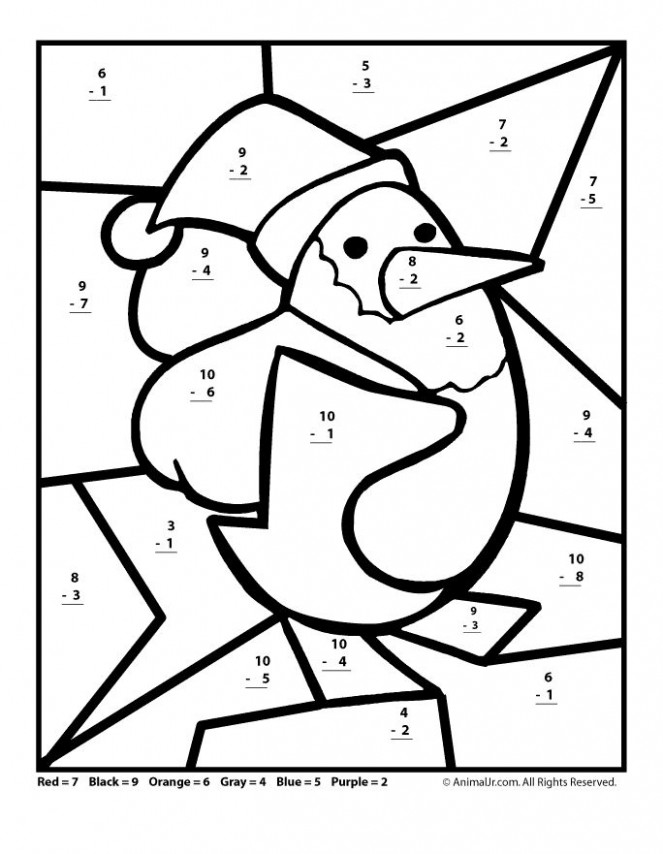 Free Printable Christmas Math Worksheets: Addition and Subtraction ..