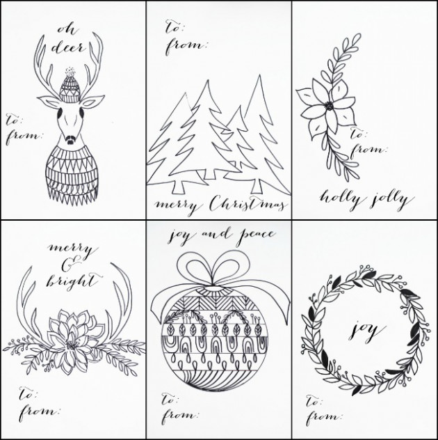 FREE PRINTABLE CHRISTMAS TAGS THAT YOU CAN COLOR – Christmas Coloring Tags
