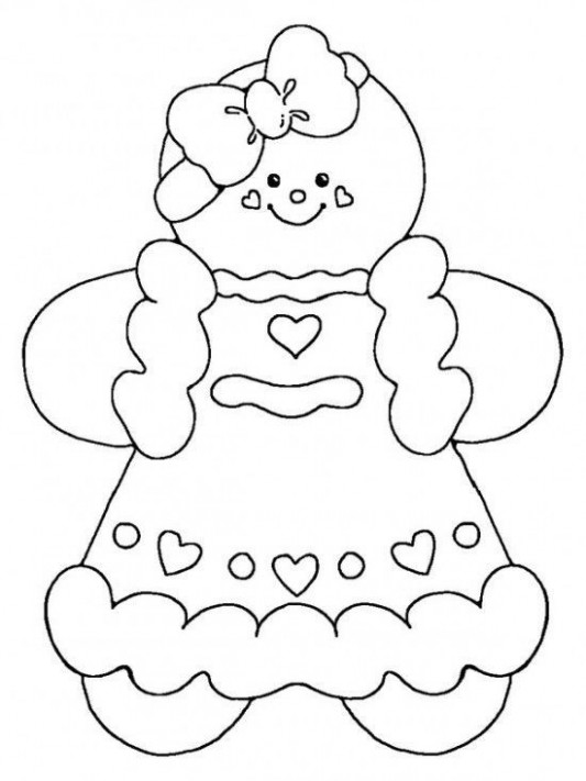 Free Printable Gingerbread Man Coloring Pages For Kids | My future ..