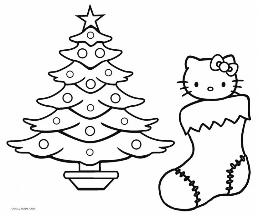 Free Printable Hello Kitty Coloring Pages For Pages | Cool16bKids - Christmas Coloring Pages Hello Kitty
