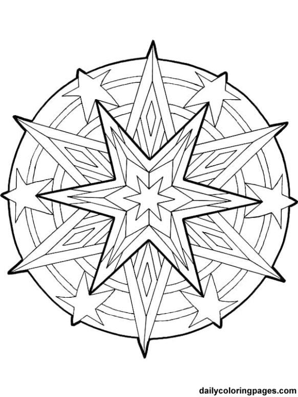 Free Printable Mandala Coloring Pages | mandala christmas ornaments ...