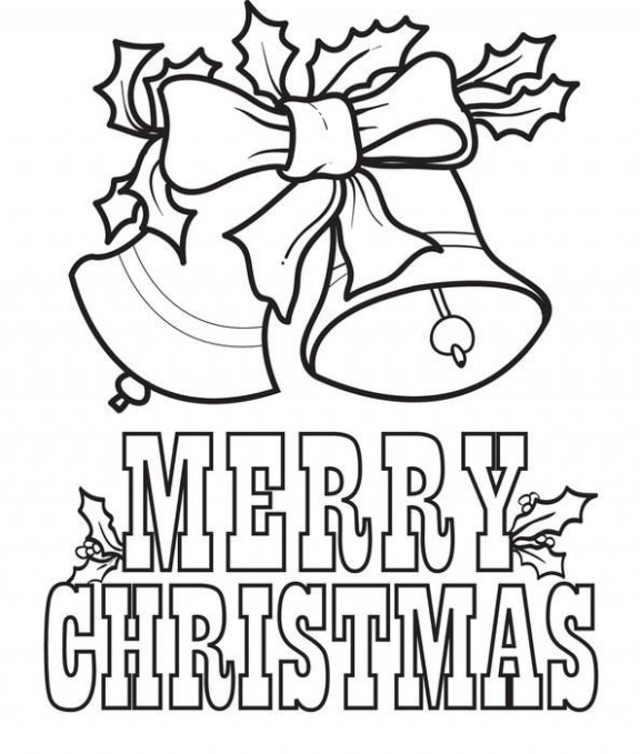 FREE Printable Merry Christmas Bells Coloring Page for Kids ...