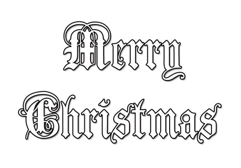 Free Printable Merry Christmas Coloring Pages – Merry Christmas Sign Coloring Pages