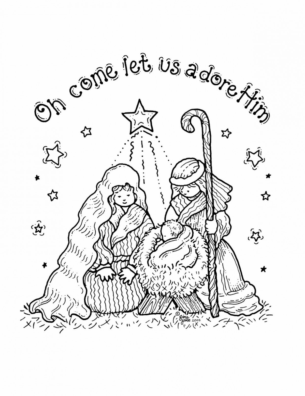 Free Printable Nativity Coloring Pages for Kids | Projects to Try ..