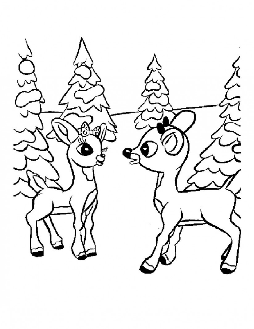Free Printable Reindeer Coloring Pages For Kids – Christmas Coloring Sheets Reindeer