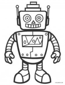 Free Printable Robot Coloring Pages For Kids | Cool16bKids | School ..