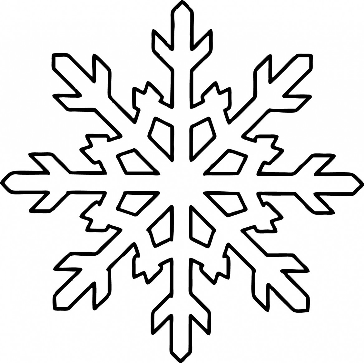 Free Printable Snowflake Coloring Pages For Kids – Christmas Coloring Pages Snowflakes