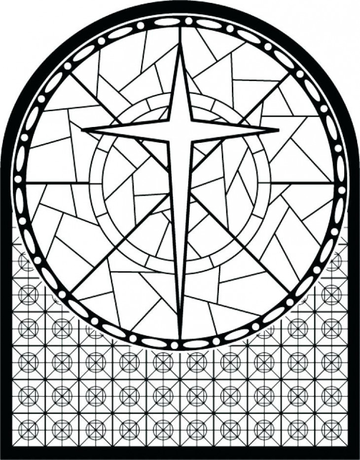 Free Printable Stained Glass Christmas Coloring Pages Unique Flower ..