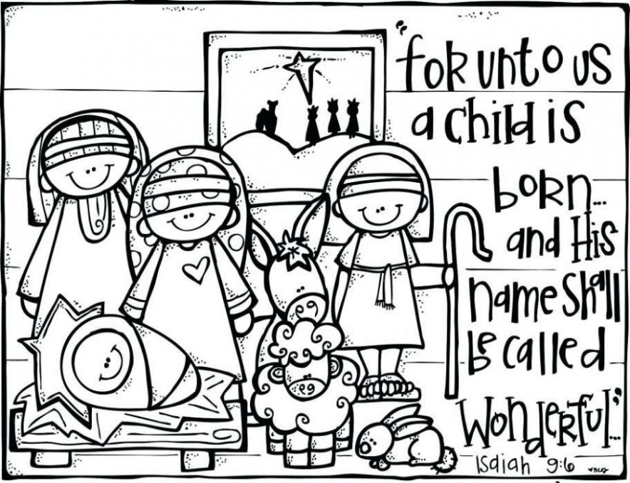 Free Religious Christmas Coloring Pages Beautiful Elegant Religious ..