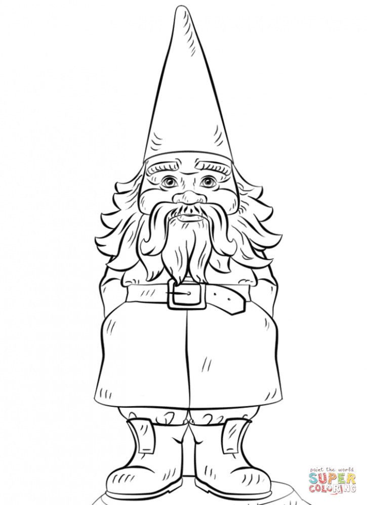 Garden Gnome coloring page | Free Printable Coloring Pages – Christmas Gnome Coloring Page