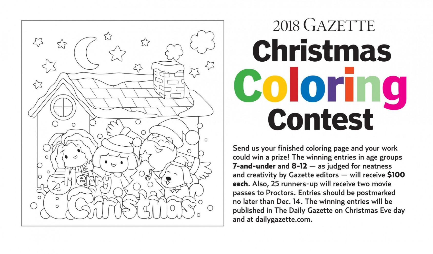 Gazette Christmas Coloring Contest under way | The Daily Gazette – Christmas Coloring Contest