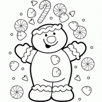 Gingerbread Coloring Page - Free Christmas Recipes, Coloring Pages ...