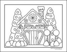 gingerbread house coloring page coloring pages gingerbread house ...