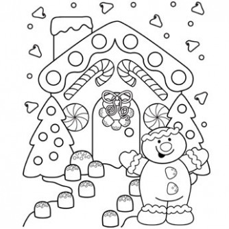 Gingerbread Lane Coloring Page - Free Christmas Recipes, Coloring ...