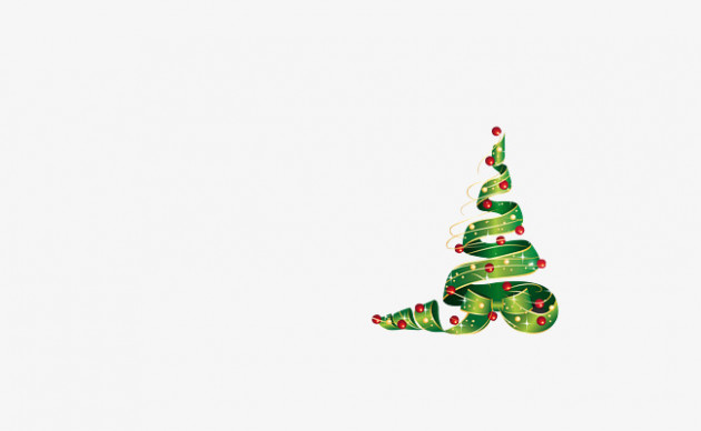 Green Ribbon Christmas Tree, Green, Christmas Tree, Colored Ribbon ..