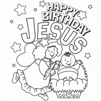 Happy Birthday Jesus Coloring Page – Free Christmas Recipes ..