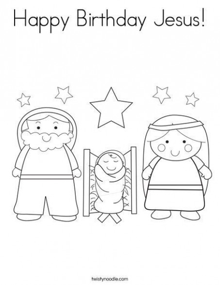happy birthday jesus coloring page - Google Search | Bible Coloring ...