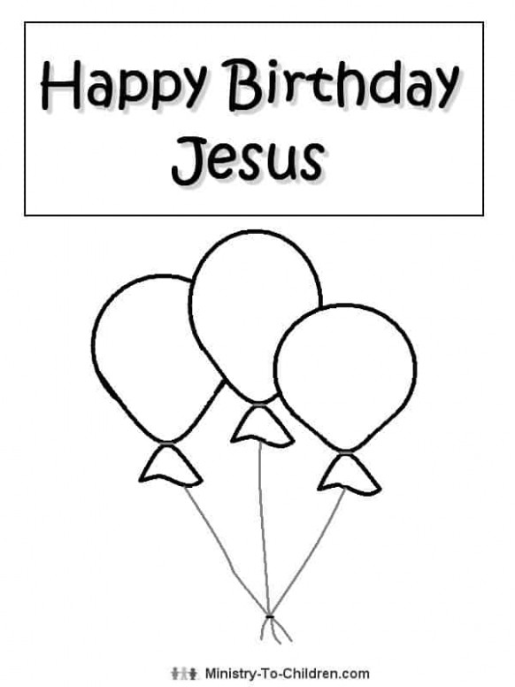 Happy Birthday Jesus Coloring Page - Ministry-To-Children