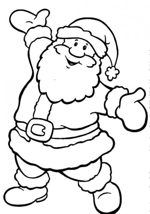 Happy Santa Claus Christmas Coloring Pages | Coloring Christmas ...