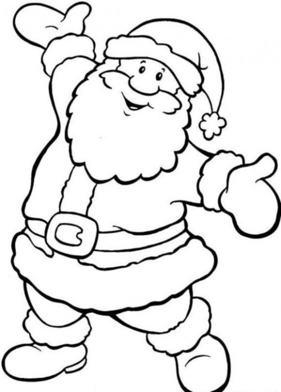 Happy Santa Free Coloring Pages For Christmas – Christmas Coloring ..