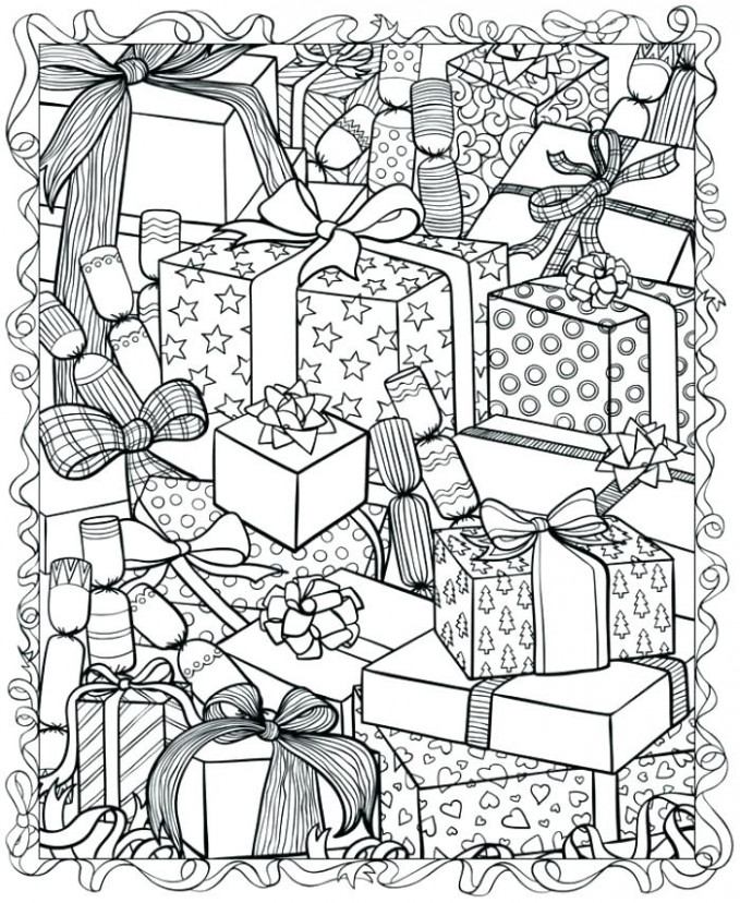 Hard Christmas Coloring Pages Difficult Colouring - creativeinfotech ...