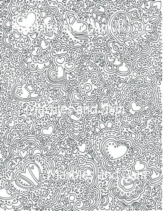 Hard Christmas Coloring Pages K20 Printable Difficult Coloring ...