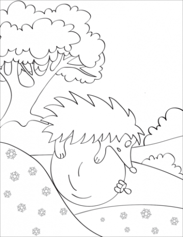 Hedgehog Rolling on Christmas Ball coloring page | Free Printable ..