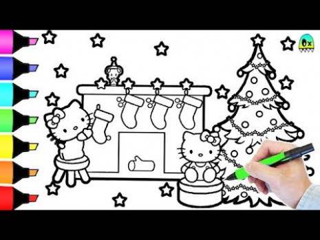 Hello Kitty Christmas Coloring Book Pages I Fun Colouring videos for ..