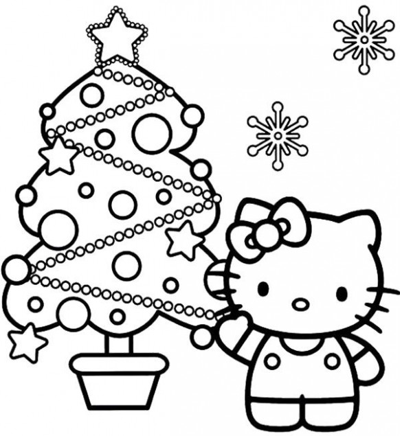 Hello kitty Christmas Coloring Page | Coloring Pages | Hello kitty ..