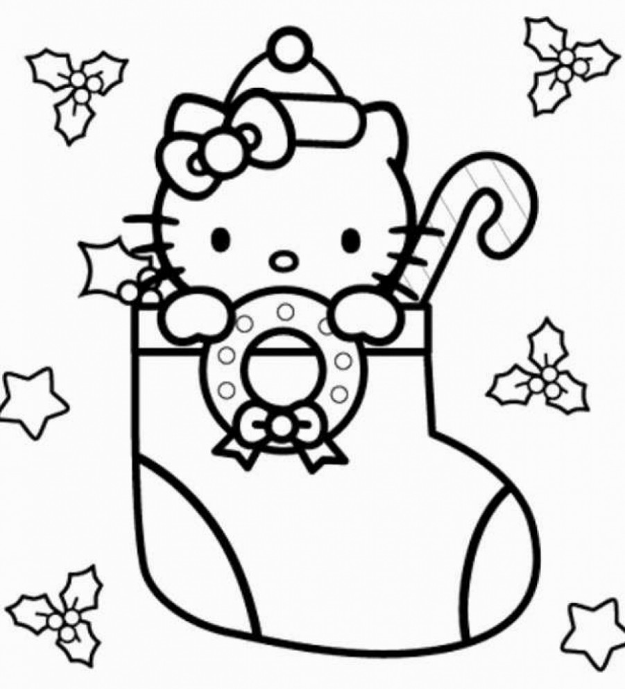 Hello Kitty Christmas Coloring Page - cosmo-scope.com