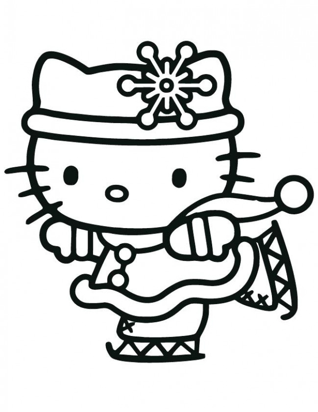 Hello Kitty Christmas Coloring Pages Free Unique Hello Kitty ..