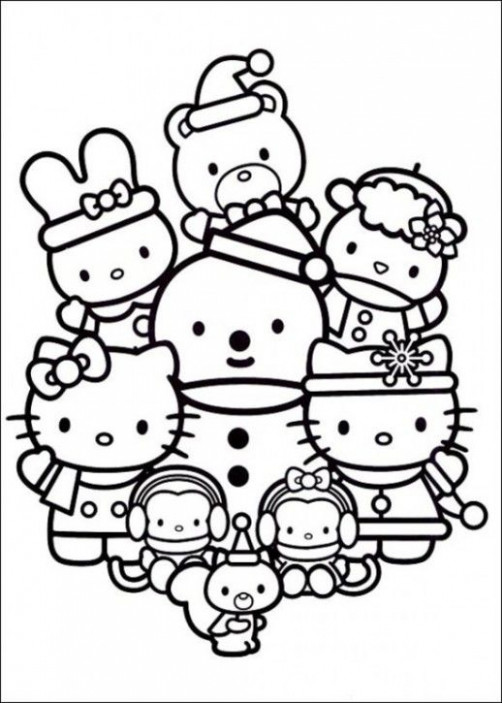 hello kitty christmas coloring pages – Google Search | Coloring ..