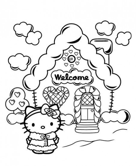 Hello Kitty Christmas Coloring Pages | … use this Hello Kitty ..