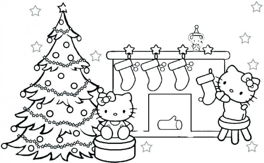 Hello Kitty Coloring Pages Free Print Printable Christmas Activity ...