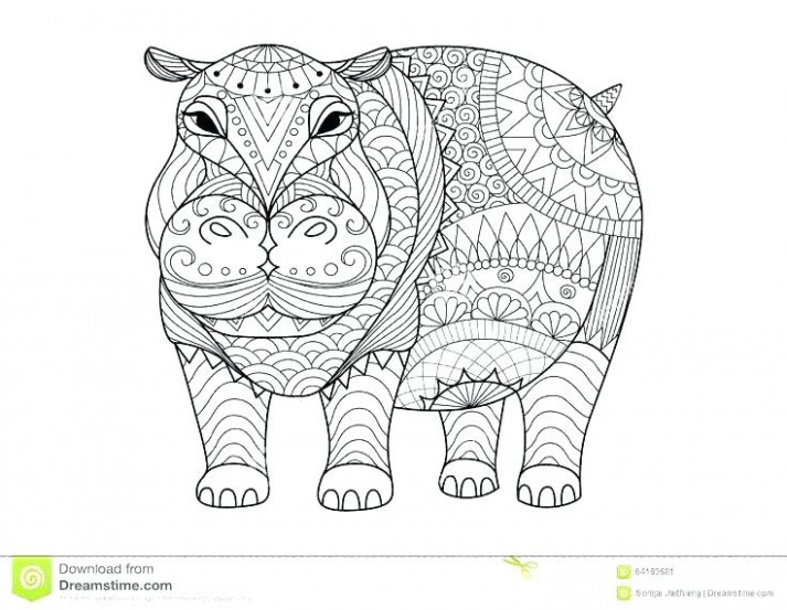 hippo coloring page – rosaartur