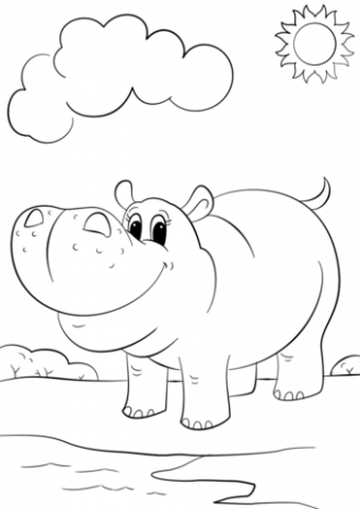 Hippopotamus Drawing Step By Step at GetDrawings.com | Free for ..
