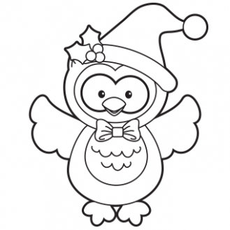 Holiday Owl Coloring Page - Free Christmas Recipes, Coloring Pages ...