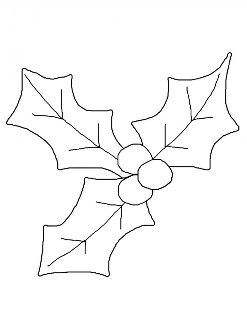 Holly Coloring Pages – Best Coloring Pages For Kids – Christmas Holly Coloring Pages