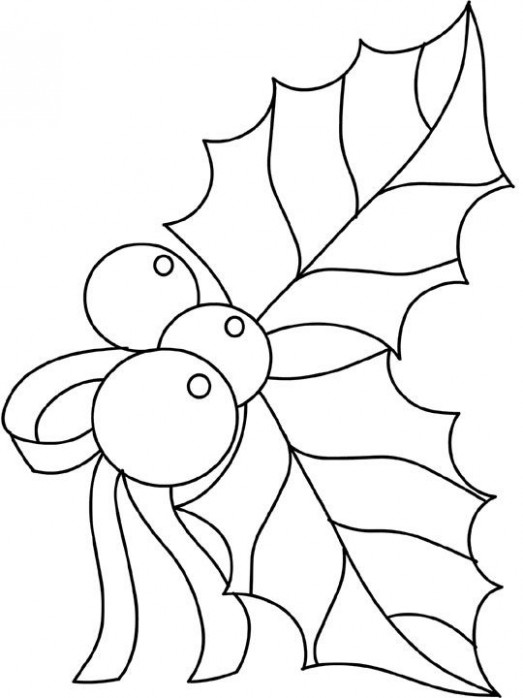 Holly Coloring Pages | things to sew | Christmas coloring pages ..