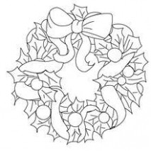 Holly leaves wreath coloring pages – Hellokids