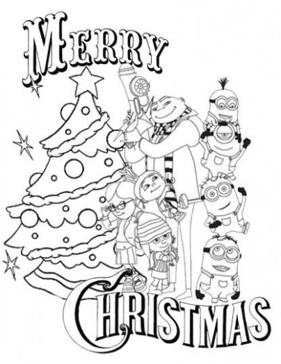 Homey Idea Minion Christmas Coloring Pages Almashriq Co Free ...