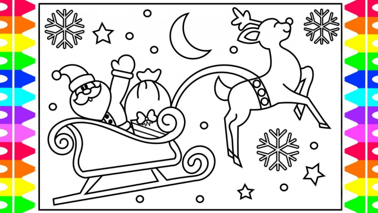 How to Draw SANTA'S SLEIGH Step by Step for Kids| Santa Claus Sleigh ..