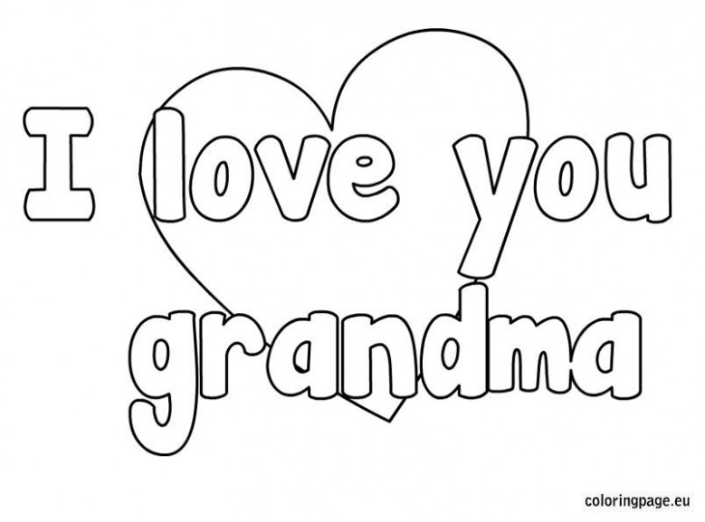 I love you grandma coloring page | Pre-K | Mothers day coloring ..