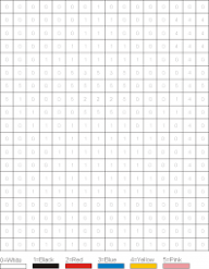 Image result for color by number mosaic for adults | Grid drawing ..
