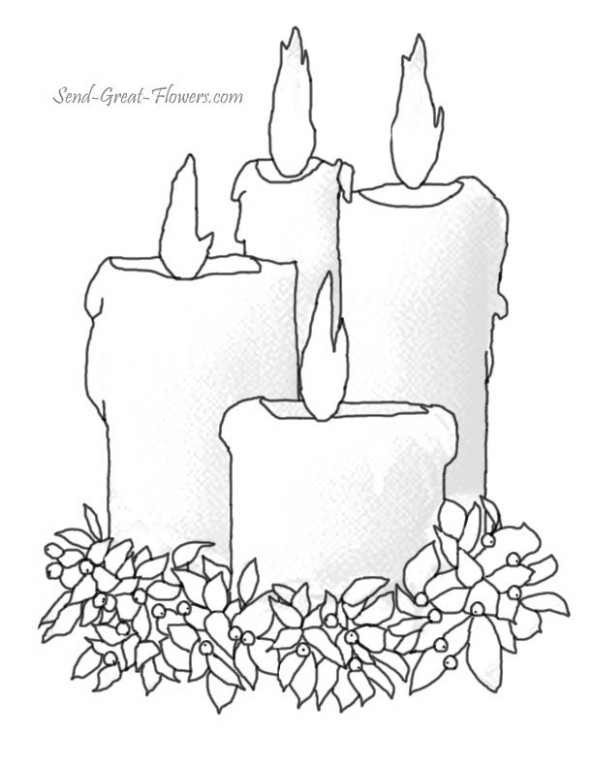images of candles coloring pages – Google Search | Coloring: Candles ..