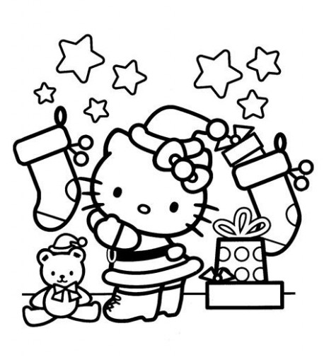 Interactive Magazine: HELLO KITTY CHRISTMAS COLORING SHEETS ..