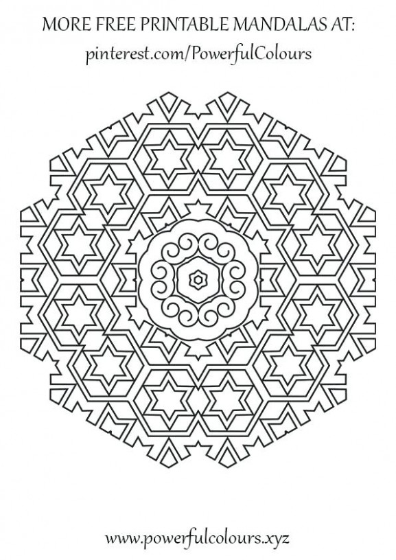 Intermediate Coloring Pages Free Intermediate Mandala Coloring Pages ...